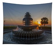 Sunrise Over Downtown Charleston  Tapestry