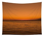 Sunrise Over The Lake Of Two Mountains - Qc Tapestry