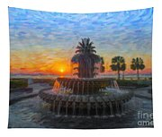 Sunrise Over The Pineapple Tapestry