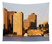 Sunrise, Skyline, Boston Tapestry