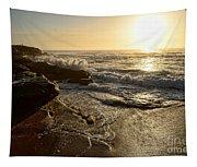 Sunrise Waves On The Rocks By Kaye Menner Tapestry