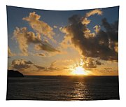 Sunrise With Clouds St. Martin Tapestry