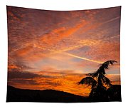 Sunrise With Orange And Red Clouds In The Sky Tapestry
