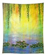Sunrise With Water Lilies Tapestry
