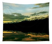 Sunset 1 Rainy Lake Tapestry