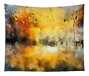 Sunset After The Storm Abstract Tapestry