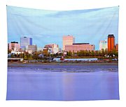 Sunset, Anchorage, Alaska Tapestry
