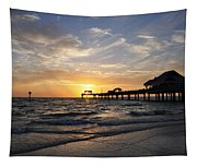 Sunset At Clearwater Tapestry