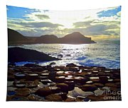 sunset at Giant's Causeway Tapestry