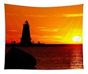Sunset At Ludington Tapestry