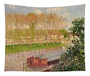 Sunset At Moret Sur Loing Tapestry