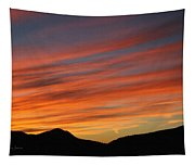 Sunset At Mt. Ord Tapestry