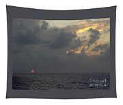 Sunset At Sea Tapestry