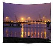 Sunset At Southampton Docks Tapestry