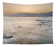 Sunset At The Hot Sea Tapestry