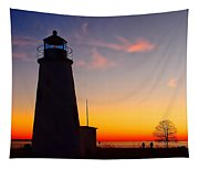 Turkey Point At Sunset Tapestry
