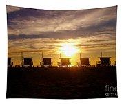 Sunset At Venice Beach Tapestry