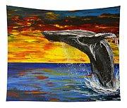 Sunset Breach Tapestry