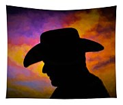 Sunset Cowboy Tapestry