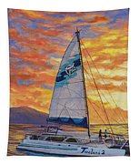 Sunset Cruise Tapestry by Darice Machel McGuire
