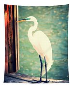 Sunset Dock Visitor Tapestry