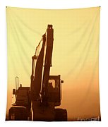 Sunset Excavator Tapestry