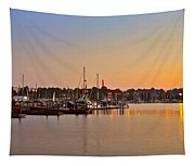 Sunset Fishing Tapestry