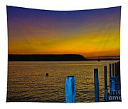 Sunset From Andersons Dock Tapestry