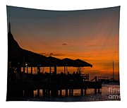 Sunset From Pelican Pier Tapestry