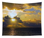 Sunset From The Mumbles Tapestry
