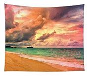 Sunset Glow At Waimanalo Tapestry