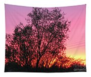 Sunset In April- Silute Lithuania Tapestry