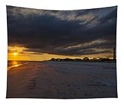 Sunset In Cape May Along The Beach Tapestry