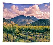 Sunset In Napa Valley Tapestry