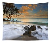 Sunset In Paradise Tapestry