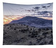 Sunset In The Davis Mountains Tapestry