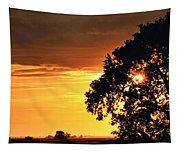 Sunset In The Valley Tapestry