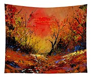 Sunset In The Wood Tapestry