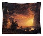Sunset In The Yosemite Valley Tapestry