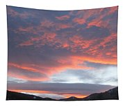 Sunset In Vail Colorado Tapestry