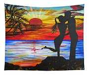 Sunset Kiss Tapestry