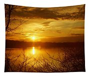 Sunset Lake Galena Tapestry