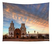 Sunset Majesty Mission San Xavier Del Bac Tapestry