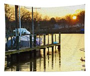 Sunset Marina Tapestry