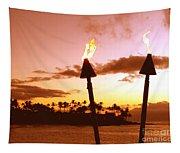 Sunset Napili Maui Hawaii Tapestry