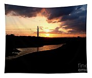 Sunset Of The Trinity River Tapestry