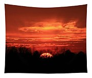 Sunset On Fire  Tapestry