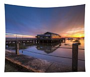 Sunset On Jekyll Island Tapestry