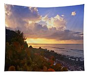 Sunset On Little Cayman Tapestry