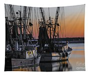 Shem Creek Sunset - Charleston Sc Tapestry